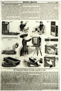 New photographic apparatus for making negatives on paper von American School
