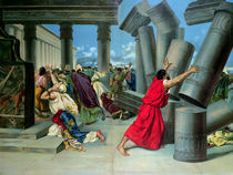 Samson and Delilah and the destruction of the Temple by German School