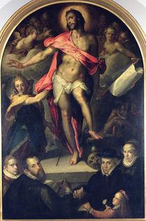 The Resurrection with Portraits of Nicolas Muller and his Family von Bartholomaeus Spranger