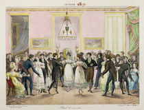 A Society Ball, engraved by Charles Etienne Pierre Motte 1819 by Hippolyte Lecomte