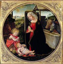 Madonna and Child with St. John the Baptist by Domenico Ghirlandaio