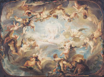 The Triumph of Cupid over all the Gods von Gabriel de Saint-Aubin