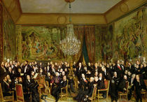 The Salon of Alfred Emilien by Francois Auguste Biard