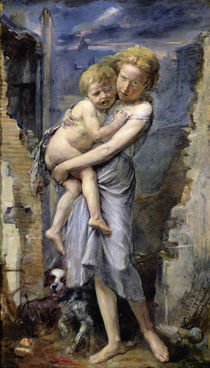Brother and Sister, Two Orphans of the Siege of Paris in 1870-71 by Jean-Baptiste Carpeaux