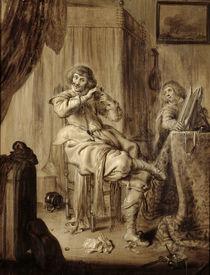 A Gentleman at his Toilet, 1660 by Adriaen Pietersz. van de Venne