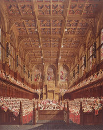 Queen Victoria in the House of Lords von Joseph Nash