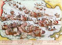 Naval Combat between the Beggars of the Sea and the Spanish in 1573 by Franz Hogenberg
