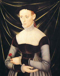 Woman with a Carnation by Lucas, the Elder Cranach