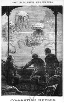 The Nautilus Passengers, illustration from '20 by Alphonse Marie de Neuville