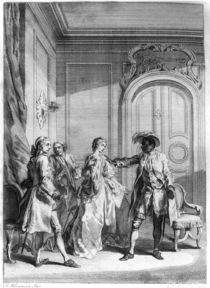 Scene from 'Othello' by William Shakespeare engraved by Hubert Gravelot by Francis Hayman