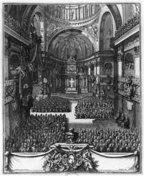 Funeral of Marie-Louise d'Orleans Queen of Spain by Jean II Berain