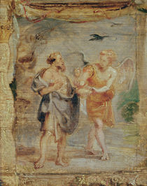 Elijah Receiving Bread and Water from an Angel von Peter Paul Rubens