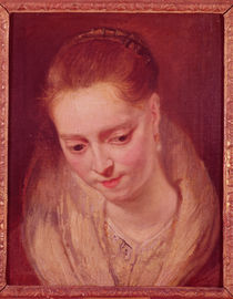 Portrait presumed to be Helene Fourment von Peter Paul Rubens