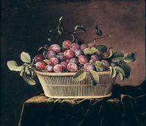 Basket of Plums von Pierre Dupuis