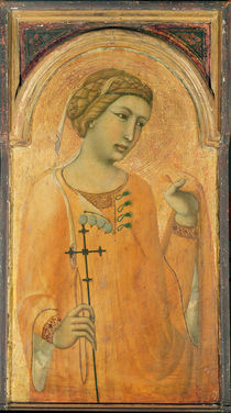 A Female Saint, possibly St. Margaret by Pietro Lorenzetti