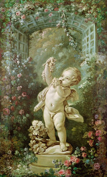 Cupid with Grapes by Francois Boucher
