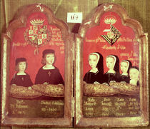 Portraits of the children of Philip I The Handsome and Joanna 'The Mad' of Castile by Spanish School