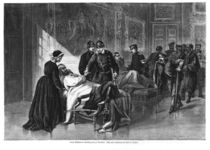 King Wilhelm I visiting the hospital at Chateau de Versailles von German School