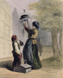 The Lamplighter, from 'Les Femmes de Paris' by Alfred Andre Geniole