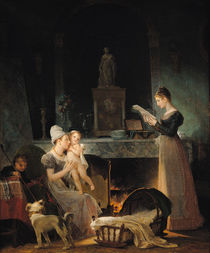 Reading the Letter by Marguerite Gerard