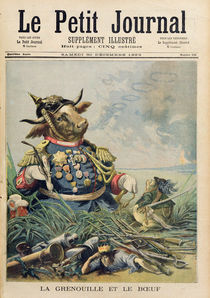 The Frog and the Ox, illustration from 'Le Petit Journal' by French School