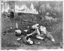 Children killed by a bombardment during the Siege of Paris by French Photographer