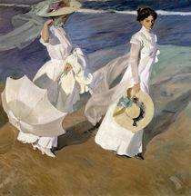 Strolling along the Seashore by Joaquin Sorolla y Bastida