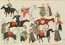 Ms 1671 A Horse Market, c.1580 by Islamic School