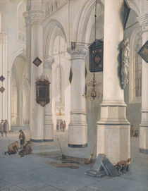 Church Interior by Emanuel de Witte