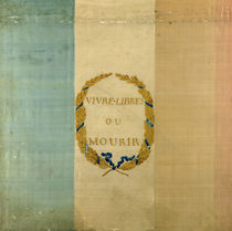 Tricolore with the motto 'Live Free or Die' by French School