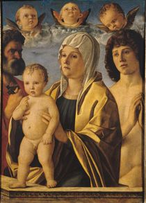 The Virgin and Child with St. Peter and St. Sebastian von Giovanni Bellini