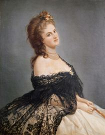 Portrait of Virginia Oldoini Countess of Castiglione by Italian School