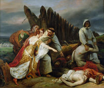 Edith Finding the Body of Harold by Emile Jean Horace Vernet