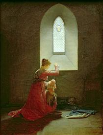 Genevieve of Brabant Baptising her Son in Prison by Jean Baptiste Mallet