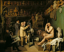 The Studio of Jean Antoine Houdon by Louis Leopold Boilly