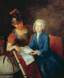 Jean-Philippe Baratier Presented to Minerva by Antoine Pesne
