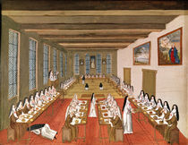 View of the Refectory, from 'L'Abbaye de Port-Royal' by Louise Madelaine Cochin