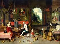 Allegory of Hearing by Jan van & Balen, Hendrik van Kessel