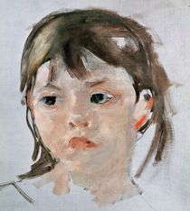 Head of a Young Girl by Mary Stevenson Cassatt