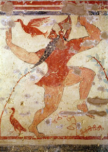 Phersu dancing, from the Tomb of the Augurs von Etruscan