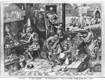 The Alchemist at work, engraved by Hieronymus Cock by Pieter the Elder Bruegel
