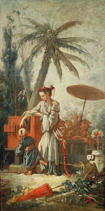 Chinese Curiosity, study for a tapestry cartoon by Francois Boucher