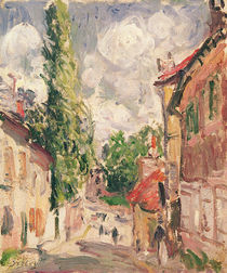 Road in a Village von Alfred Sisley