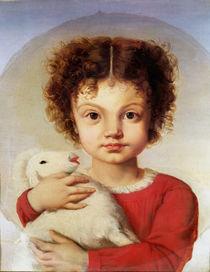 Portrait of the Artist's Daughter by Luigi Calamatta