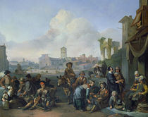 A View in Rome, 1668 by Johannes Lingelbach