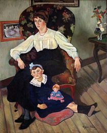 Portrait of Marie Coca and her Daughter by Marie Clementine Valadon