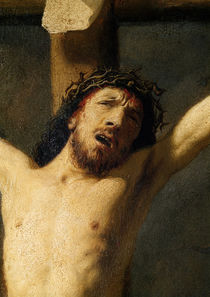 Christ on the Cross, detail of the head by Rembrandt Harmenszoon van Rijn