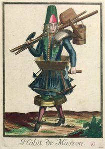 The Mason's Costume by Bonnart