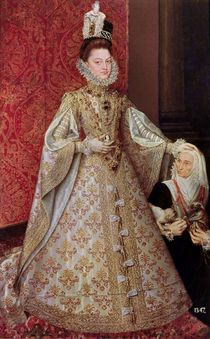 The Infanta Isabel Clara Eugenia with the Dwarf by Alonso Sanchez Coello