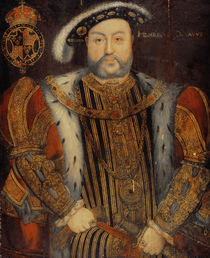Portrait of Henry VIII von Hans Holbein the Younger